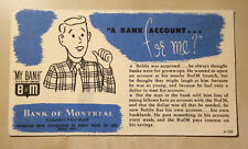 """Bank of Montreal Advertisement """"A Bank Account For Me?"""" My Bank (Ca. 1950s- 60s)"""