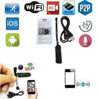 Mini Camera Spy WIFI Wireless Pinhole Micro 1080P HD DVR Security Cam Recording^
