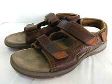 Sebago Key West Sandals Men Size 8M Dark Brown Leather