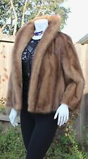 Breathtaking Natural Autumn Haze Mink Fur Vintage Opera Jacket Coat S-M Exc.Cond