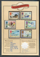 Burkina Faso : Limited imperf set from 1974 - mint NH - Certified - Rare