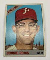 1966 Topps # 170 Cookie Rojas Baseball Card Philadelphia Phillies