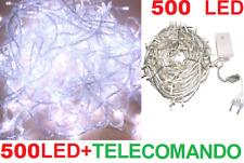 500 LED Natalizi.Luce bianca. Albero Natale,presepe,luci stelle.Trasparente filo