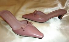 NWOB $45.orig. FRANCO SARTO MAUVE PATENT LEATHER LOOK BOW SLING BACK HEELS 6 M