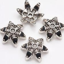 15Pcs Tibet Silver Star Flower Spacer Bead Caps Jewelry Findings DIY 11x4mm