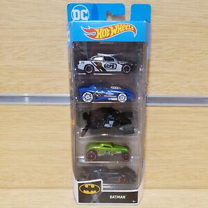 HOT WHEELS Batman 5-Pack Set - Diecast Car's with 2012 Bat Wing
