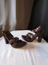 escarpins jonak cuir marron pointure 40