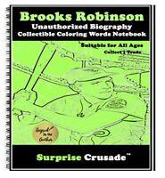 Brooks Robinson Baseball Card Sports Trading Card Notebook AUTHOR AUTOGRAPH SET