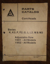 Parts Catalog Allis-Chalmers Corn Heads Series K, K2, F, F2, G, L, L2, M & M2