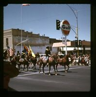 1971 35mm Slide Gulf Gas Station Montgomery Cleaners Parade US Army Cavalry