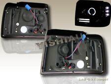 92-96 FORD BRONCO F-150/250/350 PROJECTOR HEADLIGHTS BLACK HALO RIM W/ LED