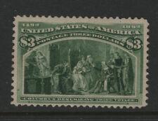 #243 mint original gum $3 Columbian PF Certificate