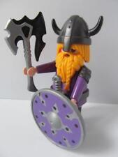 Playmobil Castle/Knight/Fairytale figure: Dwarf with axe & purple shield NEW