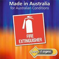 Fire Extinguisher - Australian Made Sticker - Self Adhesive Vinyl Decal