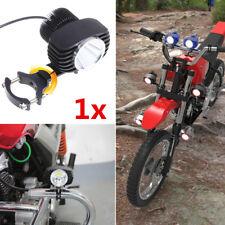 Black CNC Spot ATV Motorcycle LED Head Light 12V 18W Fog Lamp + 30-54mm Bracket