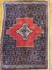 1.10 x 2.8 Antique Veg Dye Caucasian Heriz Kazak Vintage Serapi Oushak Shirvan