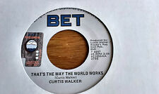 RARE MODERN 45   Curtis Walker      ** That ' s The Way The World Works  **