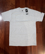 Adidas Men T-Shirt Grey Basic Short Sleeve Tee NWT
