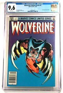 WOLVERINE LIMITED SERIES #2 (Marvel) 1982 💥 CGC 9.6 White 💥