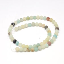 Natural Frosted Amazonite Loose Beads Round 4mm