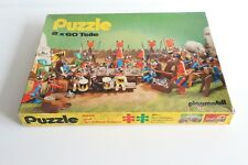 playmobil vintage sala 625-2961 2 x 60 pc western, medieval puzzle, παζλ, riddle