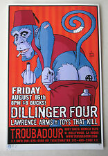 DILLINGER FOUR - ORIGINAL SIGNED & NUMBERED CONCERT POSTER by Brian Ewing