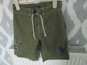 BOYS GREEN POLO  DESIGNER SWIMMING SHORTS - BY RALPH LAUREN - SIZE SMALL (8)