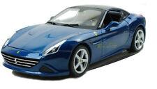 Véhicules miniatures bleus Ferrari 1:8