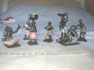 Vintage African Miniature Metal Figures
