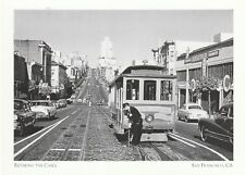"""Retaking The Cable"" (Setting Up Cable Car) *San Francisco- {Postcard} (XT42)"