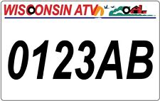 Wisconsin ATV license Plate, WI ATV/UTV   *BUY IT NOW! Ultra Fast Shipping!!