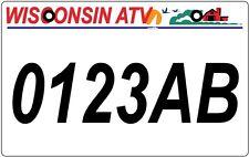 Wisconsin ATV license Plate, WI ATV/UTV   *BUY IT NOW! Ultra Fast Shipping!!