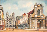 DIJON - la Bourse du Commerce et l'église saint michel