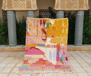 "Azilal rug 7'10x5'8"" Ft Berber Moroccan Beni Ourain Rug Carpet handmade 100%wool"