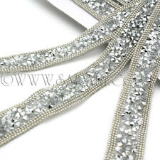 SILVER HOTFIX CRYSTAL TRIM Rhinestone trimming,EMBELLISHMENT,costume,pageant,ART