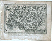 Carte ancienne MERCATOR HONDIUS map 1630 PROVENCE Vence Toulon Marseille 211