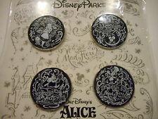 Alice In Wonderland Black & White  Lot Of 4 Disney Pins *****NEW*****