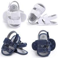 Baby Toddler Canvas Sandals Newborn Girls Boys Shoes Prewalker Soft Crib Sole