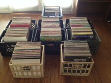 Vinyl DJ record collection