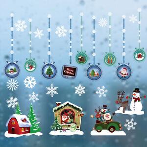2020  Christmas Wall Stickers Window Santa Murals New Year Home Decor Sticker US