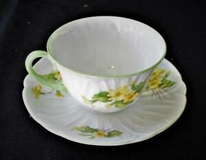 Vintage SHELLEY Bone China England PRIMROSE Pattern #13430 Set Cup & Saucer
