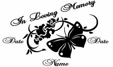 """*******In Loving Memory Butterfly Decal*********version 2 (12"""" WIDE 7.5"""" TALL)"""