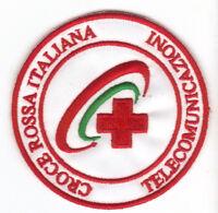 [Patch] CROCE ROSSA ITALIANA TELECOMUNICAZIONI cm 7,5 toppa ricamata ricamo -097