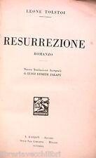 RESURREZIONE Leone Tolstoj Barion 1929 Romanzo Russia Letteratura Narrativa di