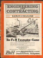 1920 VINTAGE MAGAZINE AD #00157 - P&H GASOLINE EXCAVATOR CRANE