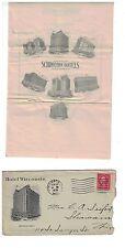 1925 Letter in Envelope Hotel Wisconsin Milwaukee a Schroeder Hotel