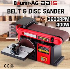 Powerful 400W Belt Disc Sander Bench Mount Grinder Belt & Disc Bench Sander