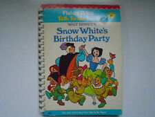 Fisher Price Talk To Me Book #4 Walt Disney's Snow White's Birthday Party, 1978