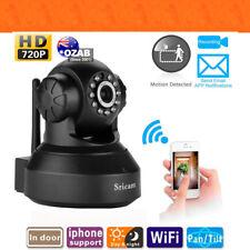 Sricam 720P HD IP Camera Black Wireless WiFi Security Indoor Night Vision AU