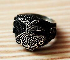 925 sterling silver men ring . Handmade . Semazen ;mevlevi